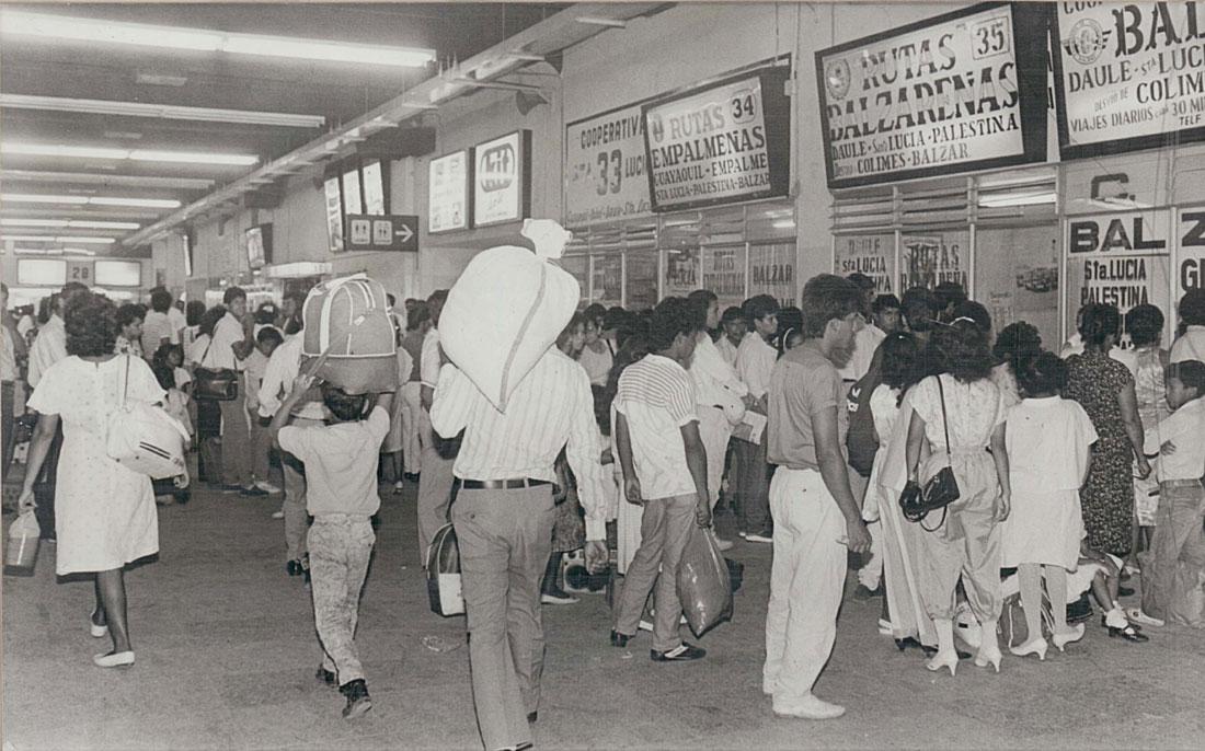 Terminal Terrestre Jaime Roldós en los 80