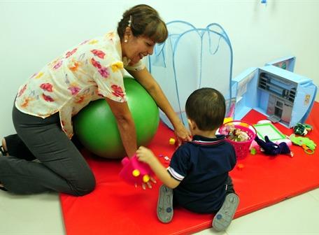En el área de rehabilitación de Ecuaquem se brinda tratamiento psicológico y motor para los pacientes que han sufrido de lesiones causadas por quemaduras.
