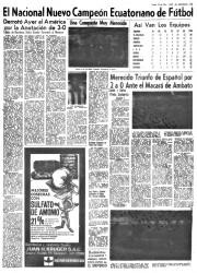 Página de El Universo del lunes 18 de diciembre de 1967.