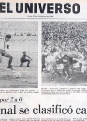 Portada de Diario El Universo del lunes 22 de diciembre de 1986.