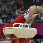 LONDRES. El estadounidense Danell Leyva durante la prueba de gimnasia artística de los Juegos Olímpicos de Londres 2012. Foto: EFE