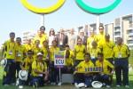 LONDRES.- Deportistas y directivos de Ecuador recibieron la bienvenida oficial de la organización (Guido Campaña, enviado especial).