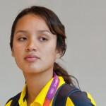 LONDRES.- La nadadora ecuatoriana Samantha Arévalo (AFP)