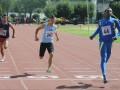 QUITO. El tricolor Jean Carlos Valencia (adelante) se quedó con el título en la prueba de velocidad.