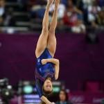 LONDRES. La gimnasta italiana Vanessa Ferrari durante la final de ejercicios de suelo femenina de gimnasia rítmica durante los Juegos Olímpicos de Londres 2012. Foto: EFE