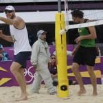 LONDRES. Partido de voleibol de playa entre Alemania y Brasil en los Juegos Olímpicos Londres 2012. Foto: AP
