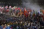 Clausura Londres banderas y deportistas 12 ago 12 EFE