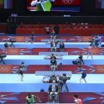 LONDRES. Vista general de los participantes en el torneo individual masculino de tenis de mesa de los Juegos Olímpicos de Londres 2012. Foto: EFE