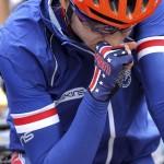 LONDRES. La ciclista estadounidense Amber Neben se concentra antes del comienzo de la prueba de fondo en carretera de ciclismo en ruta femenino durante los Juegos Olímpicos en Londres 2012. Foto: EFE