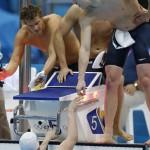 LONDRES. Nadadores alemanes durante la competición de 4x200m estilo libre masculino de natación en la que se han clasificado para la final en segundo lugar en Juegos Olímpicos de Londres 2012. Foto: EFE