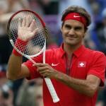 LONDRES. El tenista suizo Roger Federer celebra su victoria en el partido que ha disputado contra el uzbeco Denis Istomin en la cuarta jornada de Tenis de los juegos olímpicos de Londres 2012. Foto: EFE