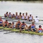 DORNEY. Los británicos celebran su medalla de bronce en el ocho masculino de remo durante los Juegos Olímpicos de 2012. Foto: EFE