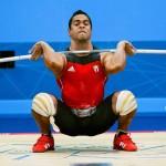 LONDRES. El cubano Iván Cambar, medalla de bronce, compite en la prueba masculina de 77 kilogramos, halterofilia, en los Juegos Olímpicos Londres 2012. Foto: EFE