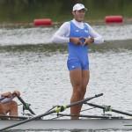 DORNEY. Los medallistas italianos Romano Battisti y Alessio Sartori celebran haber ganado la plata olímpica en la final de doble Scull masculino de la competición de remo de los Juegos Olímpicos de Londres 2012. Foto: EFE