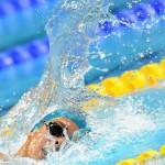 LONDRES. El italiano Gragorio Paltrinieri compite en la serie de clasificación de 1500 metros estilo libre de natación durante los Juegos Olímpicos Londres 2012. Foto: EFE