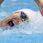 LONDRES. El chino Yang Sun compite en la serie de clasificación de 1500 metros estilo libre de natación masculina durante los Juegos Olímpicos Londres 2012. Foto: EFE
