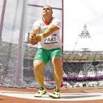 LONDRES. El húngaro Krisztian Pars compite en la prueba de lanzamiento de martillo en la competición de Atletismo en los Juegos Olímpicos de Londres 2012. Foto: EFE