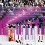 LONDRES. El atleta chino Xiang Liu se resiente del tobillo después de caer durante una de las mangas clasificatorias de los 110 metros valla masculino de la competición de Atletismo en los Juegos Olímpicos de Londres 2012. Foto: EFE