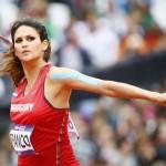 LONDRES. La paraguaya Leryn Franco compite en la ronda clasificatoria de la prueba de lanzamiento de jabalina en la competición de Atletismo en Londres. Foto: EFE