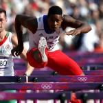 LONDRES. El atleta cubano Yordani García durante su participación en la prueba de 110 metros vallas del decatlón, en el Estadio Olímpico de Londres 2012. Foto: EFE