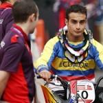 LONDRES. El ecuatoriano Emilio Andrés Falla durante la competición olímpica de BMX en el BMX Track del Parque Olímpico de Londres. Foto: EFE
