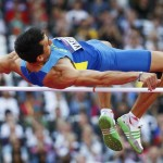 LONDRES. El ucraniano Oleksiy Kasyanov compite en la prueba de salto de altura de los Juegos Olímpicos Londres 2012. Foto: EFE