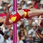 LONDRES. La atleta española Ruth Beitia durante su participación en el salto de altura de la competición olímpica de atletismo, en el Estadio Olímpico de Londres. Foto: EFE