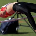 LONDRES. La atleta belga Tia Hellebaut durante su participación en el salto de altura de la competición olímpica de atletismo, en el Estadio Olímpico de Londres. Foto: EFE