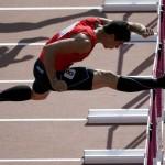 LONDRES. El atleta chileno Gonzalo Barroihet durante su participación en la prueba de 110 metros vallas del decatlón, en la competición olímpica de atletismo, en el Estadio Olímpico de Londres. Foto: EFE