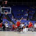 LONDRES.- Partido que disputaron España (rojo) y Sudáfrica (EFE)