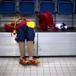 LONDRES.- Las prótesis del nadador español Xabi Torres (AP)