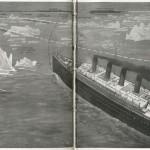 Ilustración del National Maritime Museum sobre el Titanic a minutos del impacto con el iceberg.