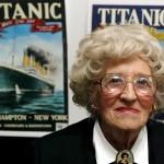 Imagen de archivo datada el 11 de abril de 2002 de Millvina Dean, última superviviente de la tragedia del Titanic. Foto: EFE