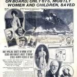 Portada del diario The New York Herald en 1912 sobre el hundimiento del Titanic.