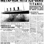 Portada del diario The Onion en 1912 sobre el hundimiento del Titanic.