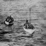 Botes salvavidas del Titanic al momento de su llegada al Carpathia. Foto: © National Maritime Museum