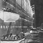 Ilustración del National Maritime Museum sobre el momento de la evacuación del Titanic.