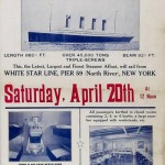 Pancarta original preparada por la White Star Line en la oficina de Nueva York para promover el viaje del Titanic. Foto: EFE
