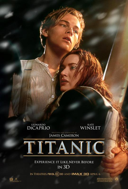 "Póster del filme ""Titanic"" de 1997."