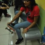 Dayanara García, de 17 años, practica skateboarding desde hace tres años.