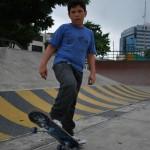 Alan Mancero, de 11 años,  practica skateboarding  desde hace uno.