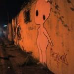 Las paredes de lotes abandonados son usualmente el lienzo para los grafiteros.