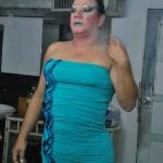 Darangeles casi lista para presentar su show en la discoteca Zona Caliente.