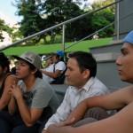 Kevin Montenegro(d), de 18, Lenin Yépez, de 28, Vladimir Montenegro, de 19 y Leito Alcívar, de 21, son integrantes del movimiento emo.