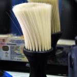 Una de las brochas que utilizan en la Peluquería Mi Alborada.