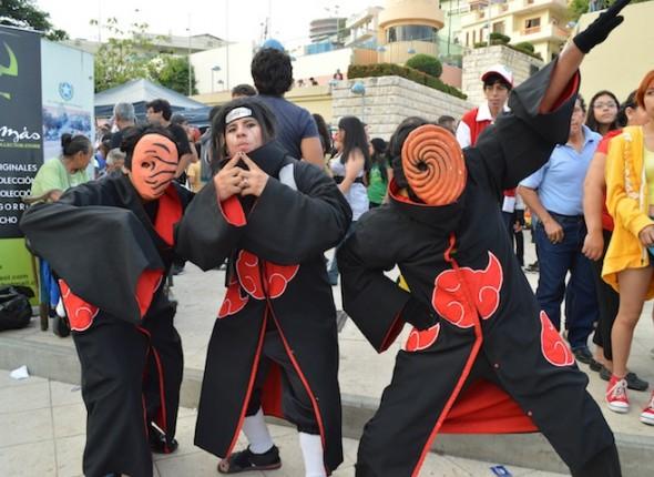 Un Team se forma cuando varios Cosplayers se unen para interpretar personajes de la misma serie, en este caso Naruto