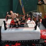 La torta del cumpleañero era un ring.