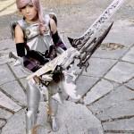 Karen Bayas con la armadura del personaje Lightning - tomado de su cuenta Facebook