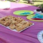 Uno de los platillos presentados en la picnic vegano fueron unos pastelitos de carne de soya.