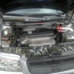 El motor original del Volkswagen Jetta es de 180 caballos de fuerza, pero en la modificación se le puso uno de 240, refiere Carlos Jaramillo, propietario de este auto tuneado,